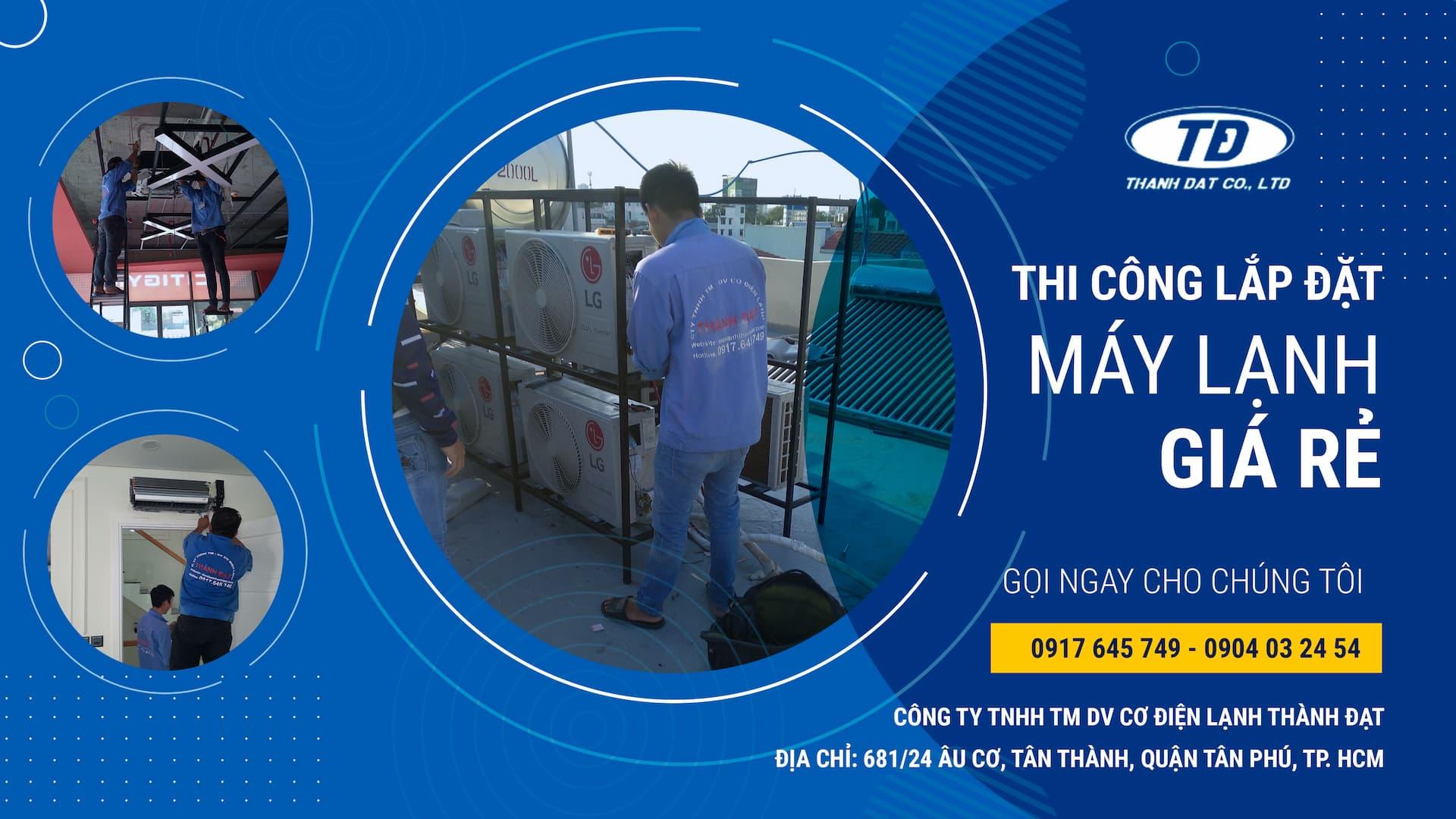 Dịch vụ lắp đặt máy lạnh chuyên nghiệp