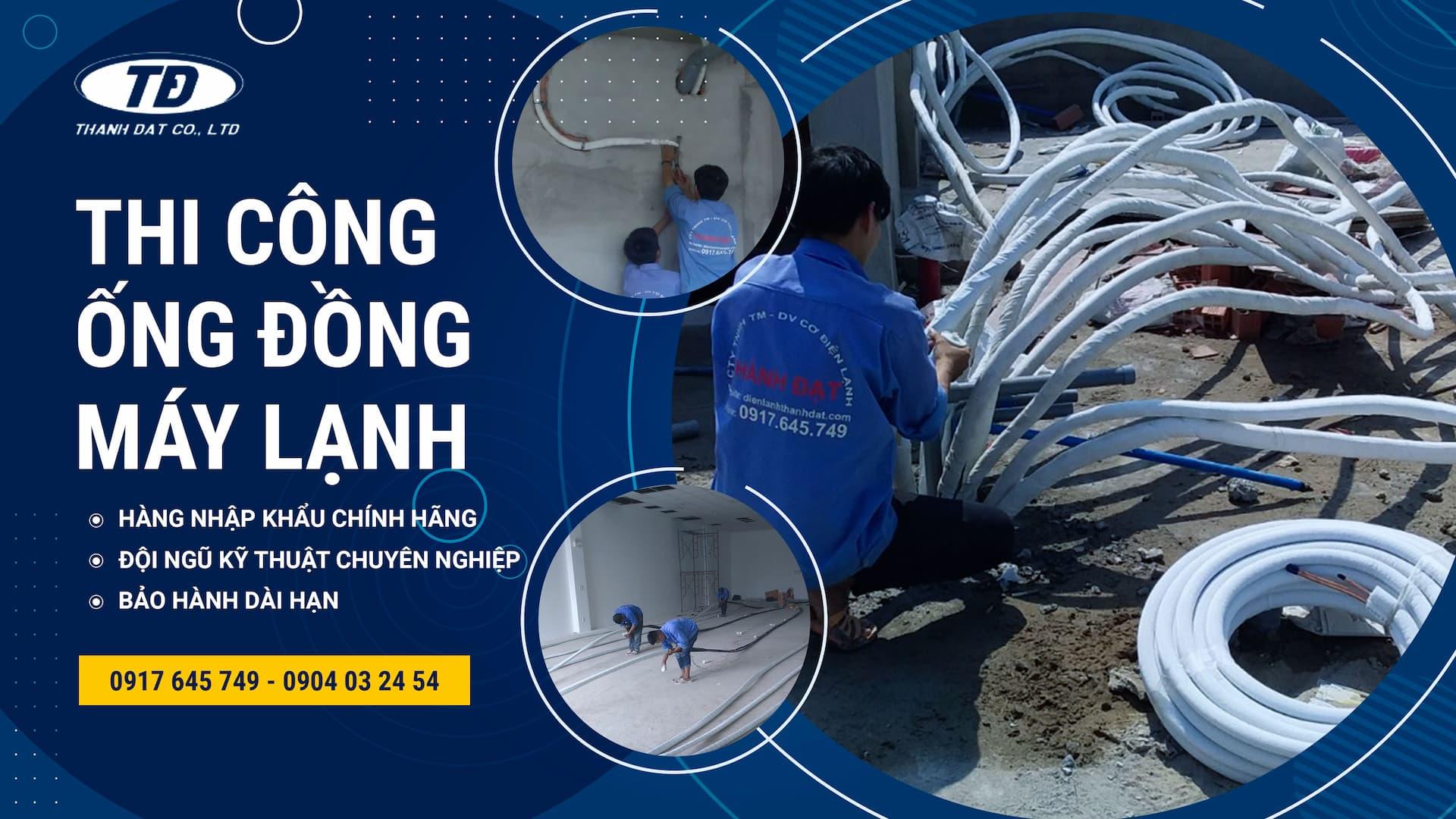 Dịch vụ thi công ống đồng máy lạnh âm tường